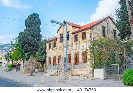 The Geman Colony is one of the most interesting cozy and atmospheric neighborhoods in Haifa Israel.