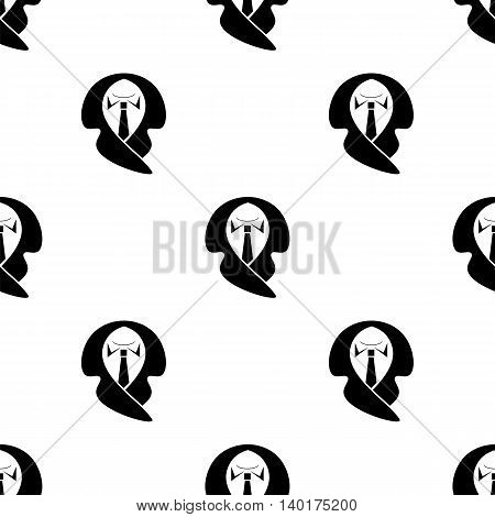 Business Suit Seamless Pattern. Fashion Elegant Male Background.