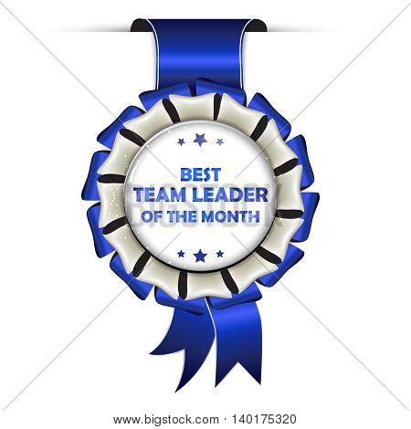 The Best Team Leader of the Month - hanging award ribbon for companies