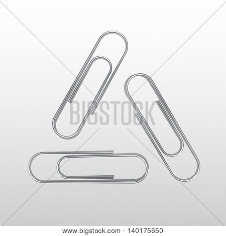 Vector Set of Paper Clips Isolated on White Background