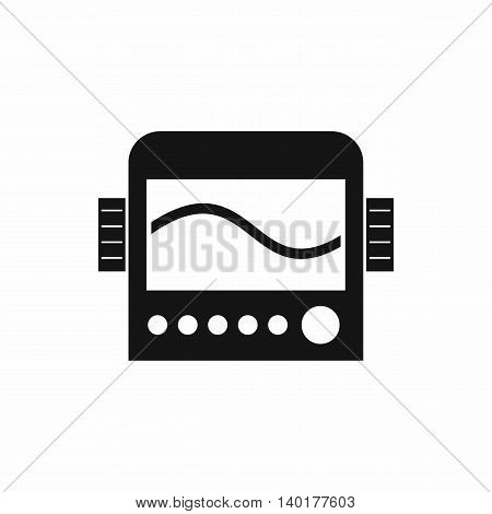 Chemical device icon in simple style isolated on white background. Scientific research symbol