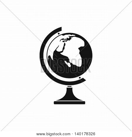 Globe icon in simple style isolated on white background. Geography symbol