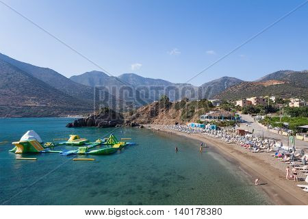 Bali, Island Crete, Greece, - June 23, 2016: View on the beach of Bali lagoon on the North part of Crete.