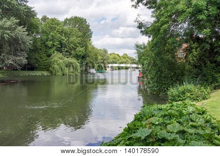 The River Thames at Pangbourne in Berkshire, UK.