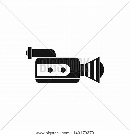 Retro camera icon in simple style isolated on white background. Video symbol