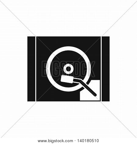 Turntable icon in simple style isolated on white background. Music symbol