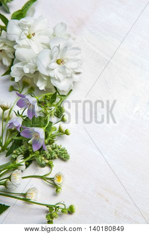 Summer flowers background