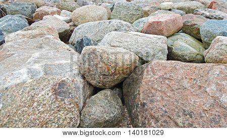 A lot of different stones located in Estonia.