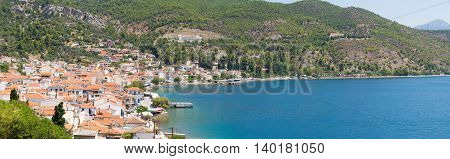 Panorama of limni village in north Evia.