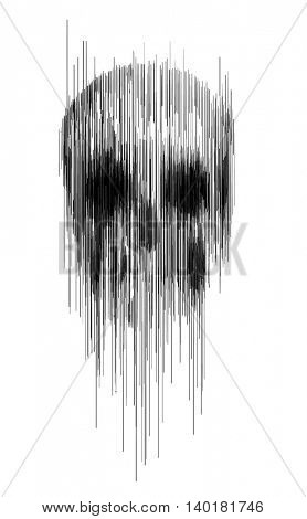 skull sketch vector illustration 3