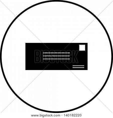 mail envelope front symbol