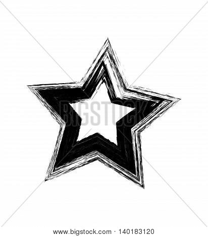 Vector black grunge star. Vector design element