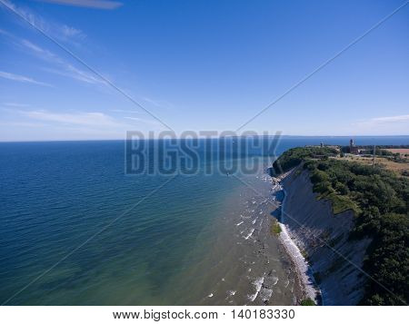 Coastal Landscape at Kap Arkona on Ruegen Island at baltic Sea, Mecklenburg Western Pomerania, Germany