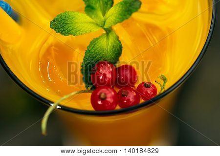 Decorated Orange Drink