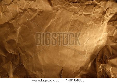 Closeup of brown paper texture