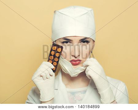 Nurse With Pills
