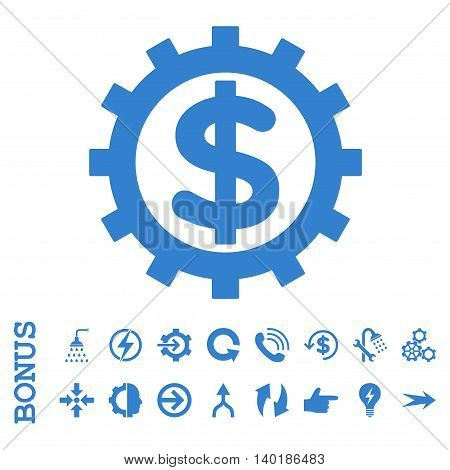 Financial Industry vector icon. Image style is a flat pictogram symbol, cobalt color, white background.