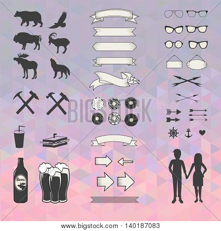 Vector set of elements for your design