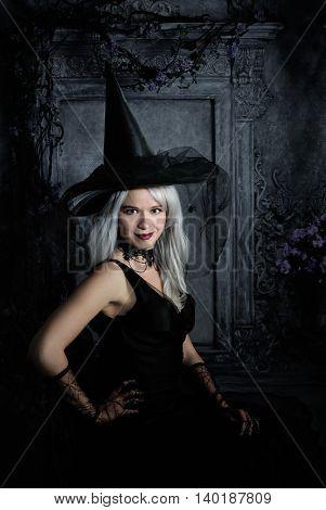 beautiful dark female portrait