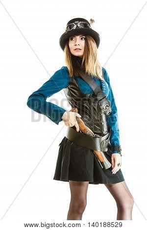 Steampunk Girl With Gun