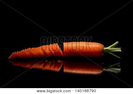 Carrot Over Black