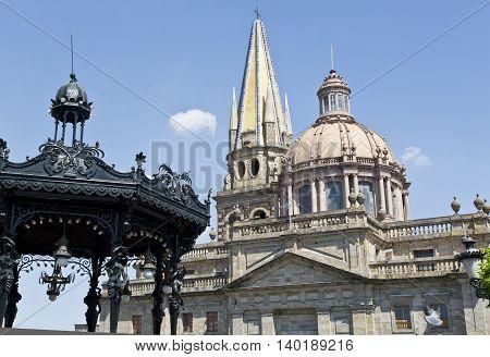The beautiful Catedral of Guadalajara Jalisco Mexico
