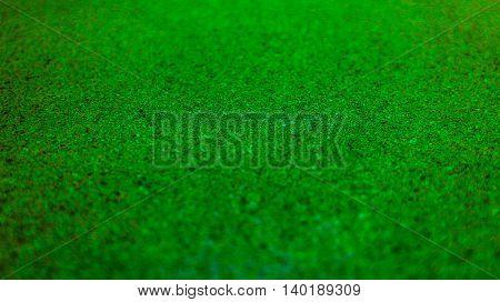 Selective focus green textured background. Horizontal 16:9 format.