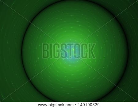Abstract voluminous green circle fractal beautiful background