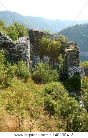 Remains from the king Ivan Assen's II fortress Bulgaria