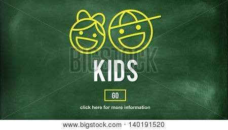 Kids Generation Adolescence Generation Fun Concept