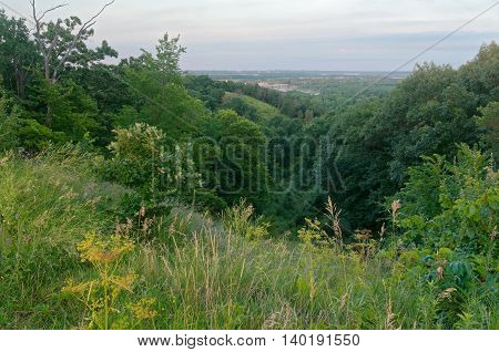 pine bend bluffs scientific and natural area overlooking mississippi river valley in inver grove heights