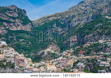 Seaside village of Positano Italy along the Amalfi Coast