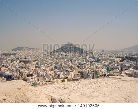 Aerial View Of Athens The One Of The Oldest Cities Greece