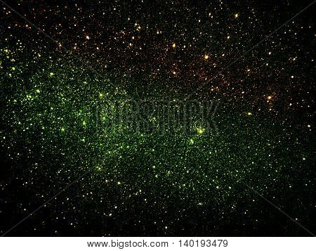 Black and colorful gradient Galaxy glitter texture background