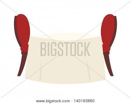 Restaurant table vector illustration.