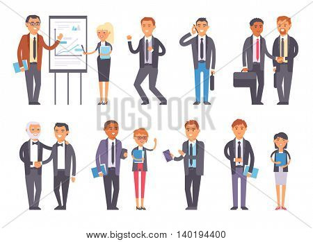Business people vector set.