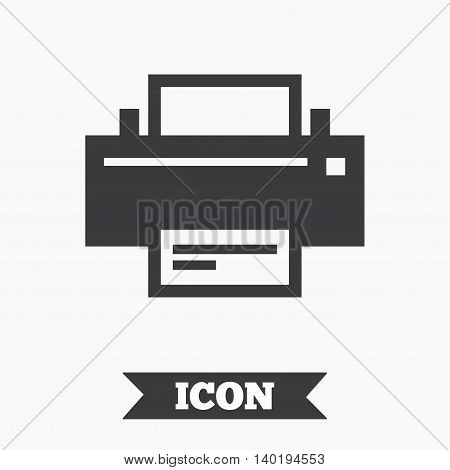 Print sign icon. Printing symbol. Print button. Graphic design element. Flat print symbol on white background. Vector