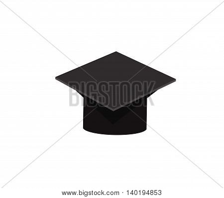 Graduate cap icon isolated on white background