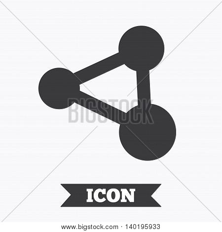 Share sign icon. Link technology symbol. Graphic design element. Flat share symbol on white background. Vector