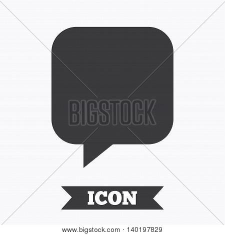 Chat sign icon. Speech bubble symbol. Communication chat bubbles. Graphic design element. Flat speech bubble symbol on white background. Vector