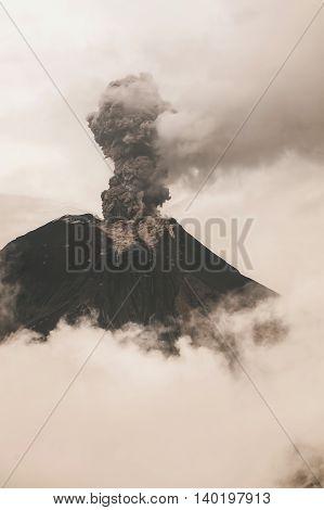 Tungurahua Volcano Strong Vulcanian Explosion Ecuador South America