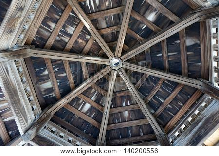 The ceiling of a gazebo in Joliet, Illinois