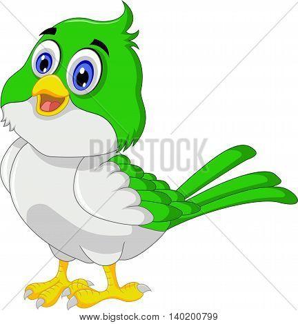 Cute bird cartoon standing for you design