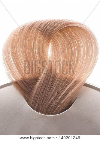 fashion locks of hair on white background