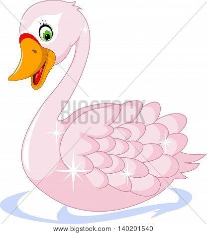 cute goose cartoon posing for you design
