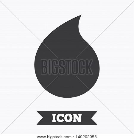 Water drop sign icon. Tear symbol. Graphic design element. Flat water drop symbol on white background. Vector