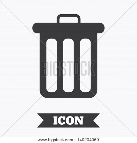 Recycle bin sign icon. Bin symbol. Graphic design element. Flat recycle bin symbol on white background. Vector