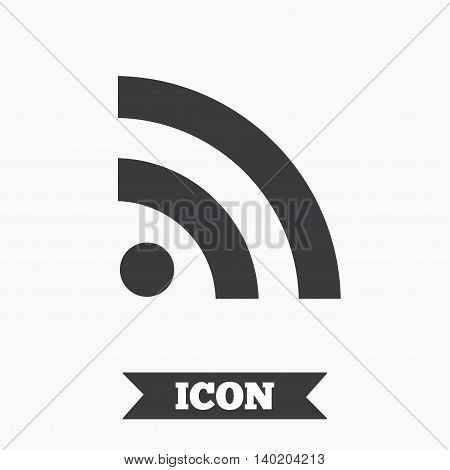 RSS sign icon. RSS feed symbol. Graphic design element. Flat rss news symbol on white background. Vector