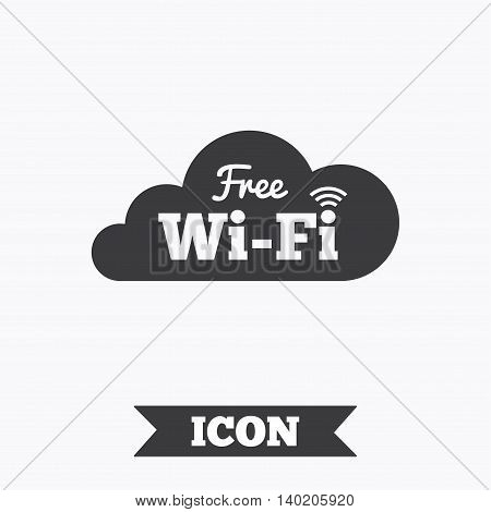 Free wifi sign. Wifi symbol. Wireless Network icon. Wifi zone. Graphic design element. Flat wifi internet symbol on white background. Vector
