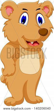 cute bear cartoon posing for you design